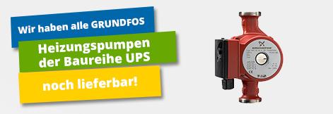 Heizungspumpen der Baureihe UPS