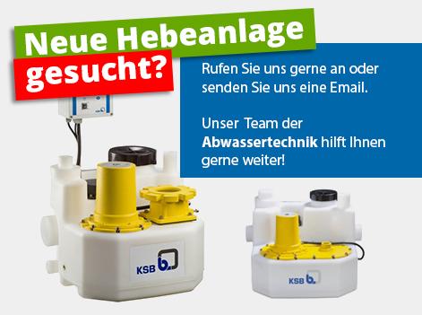 Neue Hebeanlage gesucht? Rufien Sie uns gerne an oder senden Sie uns eine Email. Unser Team der Abwassertechnik hilft Ihnen gerne weiter!