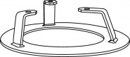 Wilo Bodenstützfuß MTS 40, aus Stahl lackiert, inkl. Befestigungsmaterial