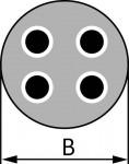 Wilo Motorkabel für Prozesswasser 4 x 4,0 mm2 (inkl. Erdungskabel)