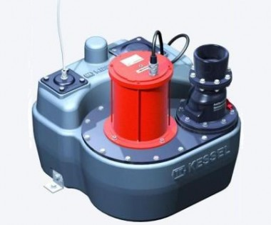 KESSEL-Hebeanlage Aqualift F Mono Komfort mit Absperreinrichtung
