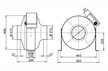 Maico Radial-Rohrventilator ERR 31/1 Wechselstrom, DN315