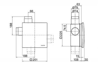 Maico Ventilatoreinsatz ER 100 VZC 101m3/h einstellb. Verzögerungsschalter