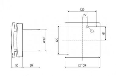 Maico Kleinraumventilator ECA 100 ipro KF Innenverschluss, Licht, DN100
