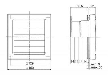 Maico Fenstereinbausatz FE 100 AP mit selbsttätiger Aussenklappe