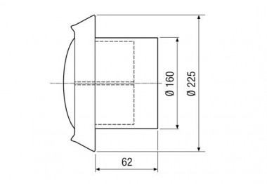 Maico Tellerventil, Edelstahl TM-V2A 16 Be- und Entlüftung, DN160