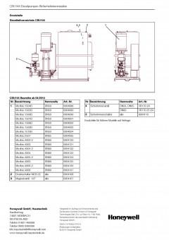 Honeywell Pumpengruppe Movitec 15B zu CBU144/145 1504B