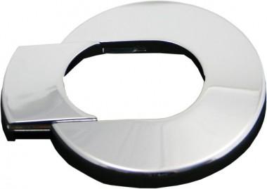 Deltamess Wandabdeckrosette, zweiteilig, Kunst- stoff, Chrom, für Mantelrohr