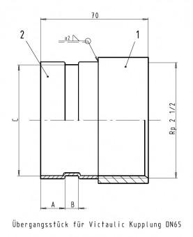 KSB Zub Adapter (Victaulic) für IG 2 1/2 - DN 65, PN 16