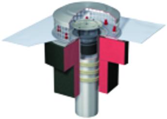 ACO Spin-Flachd.Abl.CrNi DN100