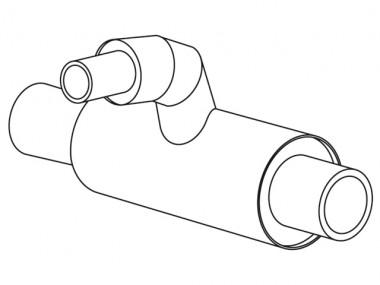 aquatherm green pipe Red-Ü-T-Stck SDR9 TI 125x32x125mm