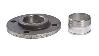 KSB Zub Flanschübergangsstück mit Rohrstutzen aus Stahl DN 65/65