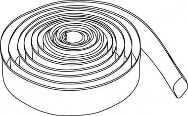Wilo Synthetikschlauch, Innen-d 110 mm PN 8, inkl. 2 Schlauchschellen, 20 m
