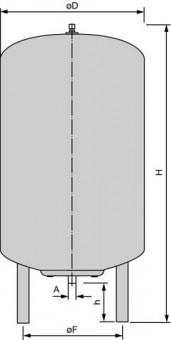 Wilo Membran-Druckbehälter Typ DE (100DE)