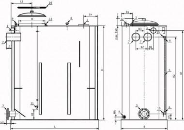 Wilo Vorbehälter Trinkwasseranwendung (Eckige Ausführung) 2000 l