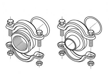 GRUNDFOS Zubehör für vert. Kreiselpumpen CLAMP-Kupplung CRN1,3,5 Rp1_1/4 Viton