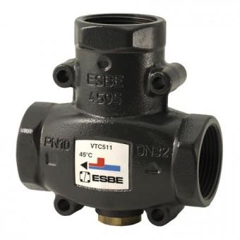 """ESBE thermisches Ladeventil VTC511 Öffnungstemp. 65 Grad, Kvs 14, 1.1/4""""IG"""