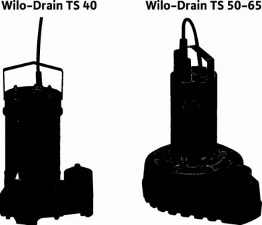 Wilo Schmutzwasser-Tauchmotorpumpe Drain TS 50 H 122/15-A,Rp 2,3x400V,1.5kW