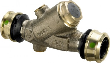 Viega Rückflussverhinderer m. SC Raxofix 5339 in 25mm Rotguss