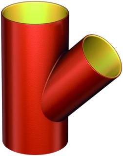ACO SM-X Einfachabzweig Red