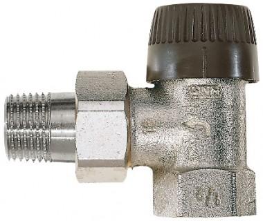 Honeywell Thermostatventilk?örper FS Messing, vernickelt, Eck, 3/8