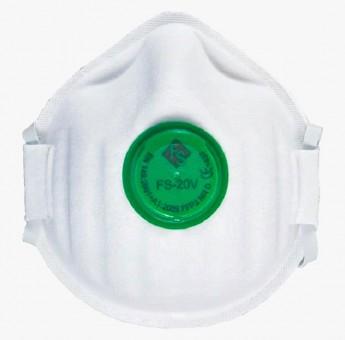 FFP2 Feinstaubmaske mit grünem Ventil