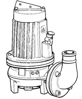 LOWARA Schmutz- und Abwassertauchmotorpumpe GLS 80-42-253-2