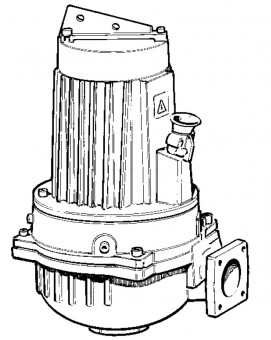 LOWARA Schmutz- und Abwassertauchmotorpumpe GLV 50-16-253-P-2