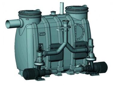 KESSEL-Hebeanlage Aqualift F Duo XXL Doppelanlage mit Absperreinrichtungen, 4,8 kW, 400 V