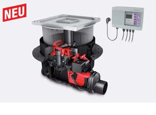 KESSEL-Rückstaupumpanlage Pumpfix F DN 200, Komfort Schaltgerät, befliesbar  24200X