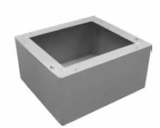 Wolf Sockel für Stahlheizkessel 50-63 kW Maße (HxBxT in mm) 280x658x920, weiß