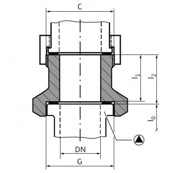 Wilo Mechanisches Zubehör Gewindepassstück R 7