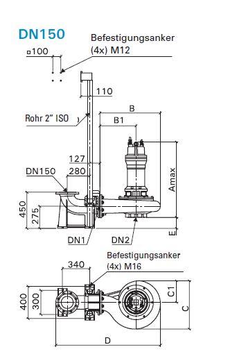 Baumaße MX3468-PU76 Ex