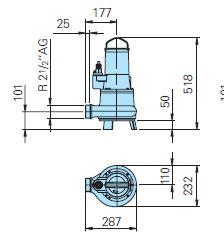 Baumaße TP50M 37/2 D Ex