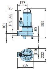 Baumaße TP53M 37/2 MD Ex