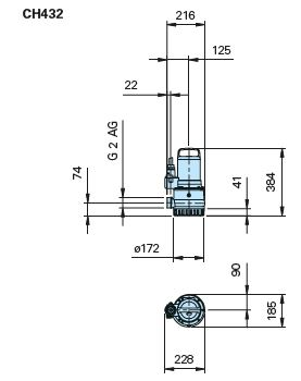 Baumaße CH432