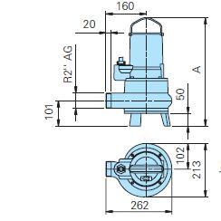 Baumaße TP30V 10/4 DA